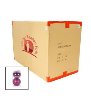 Case of Burgandy Ball Ornaments - Set of 2 (12CM) - 36/Case