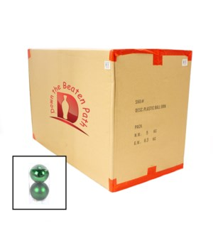 Case of Green Ball Ornaments - Set of 2 (12CM) - 36/Case