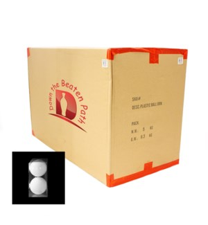 Case of White Ball Ornaments - Set of 2 (12CM) - 36/Case