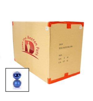 Case of Cobalt Ball Ornaments - Set of 2 (12CM) - 36/Case