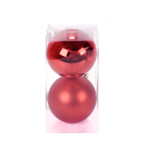 Set of Red Ball Ornaments (12CM)
