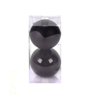 Set of Black Ball Ornaments (12CM)