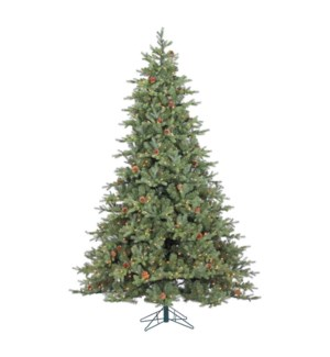 9' Grandview Slim Pine Christmas Tree (w/Pine Cones)