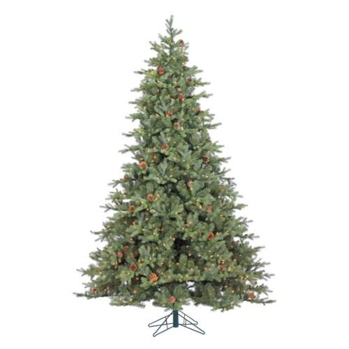 9' Grandview Slim Pine Christmas Tree (w/Pine Cones)