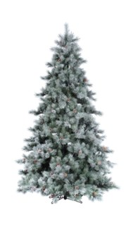 7.5' Artificial Layered Iced Aspen Tree