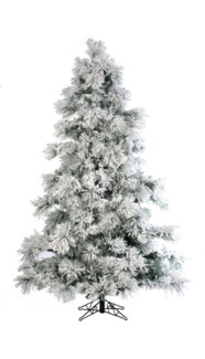 7.5' Artificial Flocked Layer Long Needle Tree