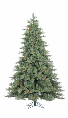 7.5' Artificial Grandview Pine Tree with Cones
