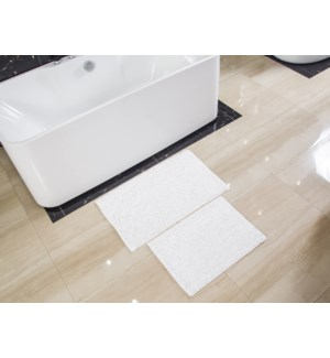 "2PC BATH MAT- 17""X24"" + 20""X32"" - 12/BOX"