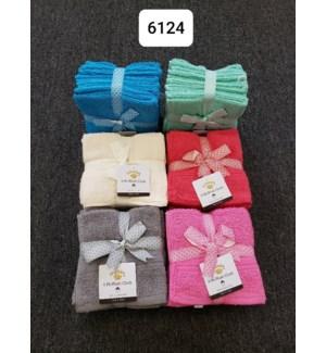 "6PK WASH CLOTH  12X12"" - 36/BX"