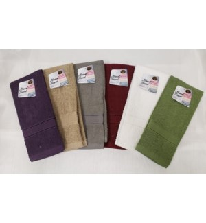 "HAND TOWEL 15""X25"" ASSORTED 72/BOX"
