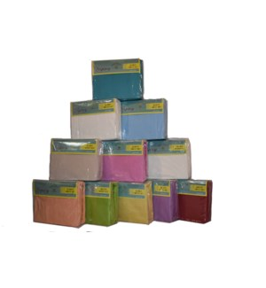 KING MUSLIN SHEET SOLID 24/BOX
