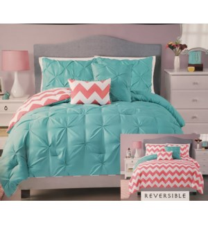 5PC QUEEN SIZE COMFORTER SET - 4SETS /BOX