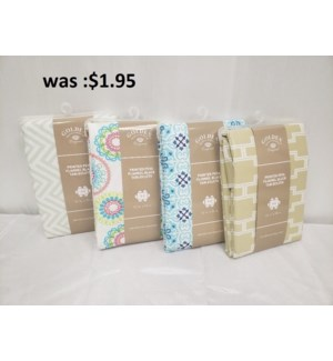 """70"""" ROUND PRINTED  COLOR PEVA FLANNEL BACK TABLECLOTH - 48PC/BOX (ASSORTED COLORS)"""