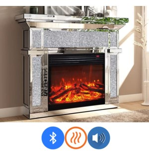 """GLAM FIREPLACE WITH RGB COLOR CONTROL  47""""X14""""X39"""" -  1/ BOX"""