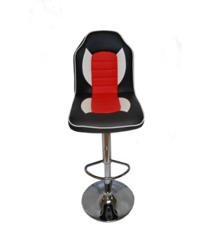 BLACK /RED -BAR CHAIR LEATHER 2/BOX