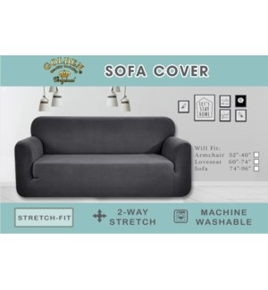 "1PC SOFA COVER 74""x96""/ASST COLORS - 12/BX"