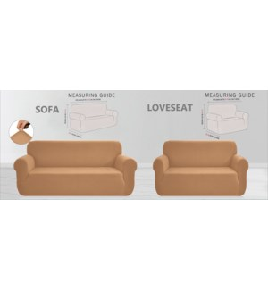 "2PC SLIPCOVER SET (SOFA 74""x96"" +LOVE SEAT 60""x74"")   4/BX"