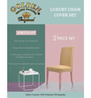 2PC CHAIR COVER SET/ ASSORTED -24/BX