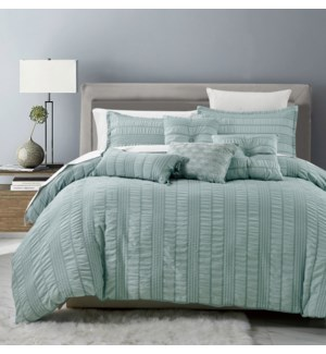 ORLANDO -QUEEN -  6PC COMFORTER SET -  3/BOX