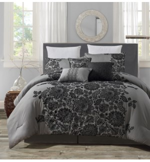 ATLANTA - QUEEN -  6PC COMFORTER SET -  3/BOX
