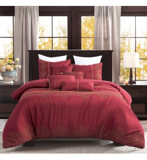 NEW YORK- QUEEN -  6PC COMFORTER SET -  3/BOX