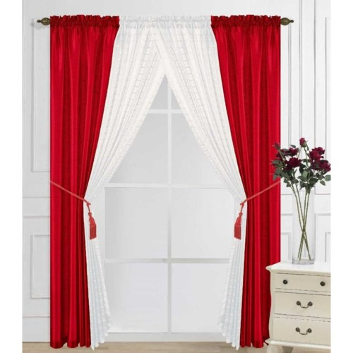 6 PC CURTAINS