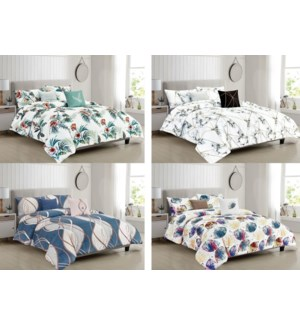 5- PC  -  COMFORTER SET - 4 SETS / BOX (ASSORTED)