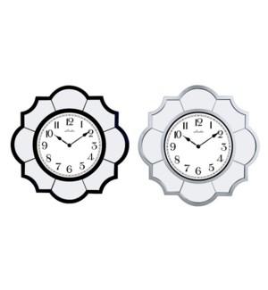 """MIRRORED WALL CLOCK 22""""X22"""" - 4PCS/BOX"""
