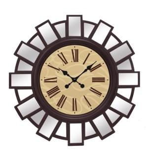 """MIRRORED WALL CLOCK 30""""X30"""" - 3PCS/BOX"""