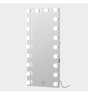 """HOLLYWOOD MIRROR 70.8""""X31.5"""" -1/BOX (20 DIMMABLE DAYLIGHT LED BULBS, LCD TOUCHSCREEN, TWO BLUETOOTH"""