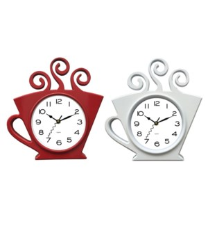 COFFEE CUP WALL CLOCK 12/BOX