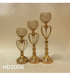 """CANDLE HOLDERS 4.33,12.61,4.33*15.37,4.33*18.12"""" / (6 SETS/BOX)"""