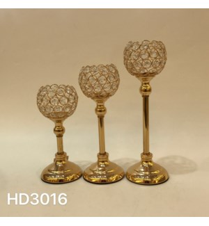 """CANDLE HOLDERS 9.46*4.33,11.43*4.33,13.4*4.33""""/ (6 SETS/BOX)"""