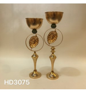 """CANDLE HOLDERS 7.88*25.61,,7.88*27.58"""" / (4SETS/BOX)"""