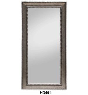 "BRUSHED SILVER FRAME MIRROR 36""X72"" --1/BOX"