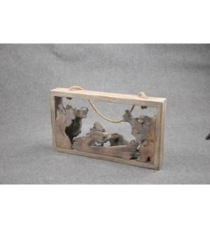 WOODEN CENTERPIECE 4/BOX