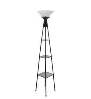 "FLOOR LAMP- COLOR : BLACK  13.38""x73.23"" 1/BOX"