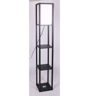 "FLOOR LAMP- COLOR : BLACK  10""x10""x62"" 1/BOX"