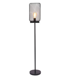 "FLOOR LAMP- COLOR : BLACK  9""x9""x65"" 1/BOX"