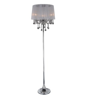 "FLOOR LAMP- COLOR : WHITE 17""x17""x63"" 1/ BOX"