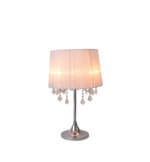 """TABLE LAMP- COLOR : WHITE 15""""x15""""x23.8""""  1/ BOX"""