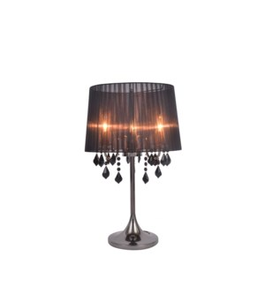 "TABLE LAMP- COLOR : BLACK 15""x15""x23.6""  1/ BOX"