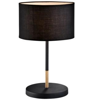 "TABLE LAMP- COLOR : BLACK 10""x10""x17""  1/ BOX"