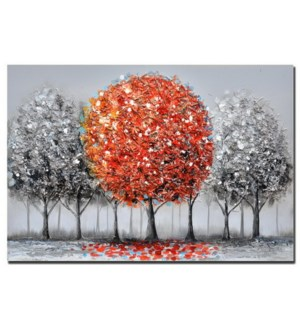 "3D HAND PAINTED WALL ART 24""X35""X2"" -- 8/BX"