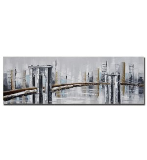 "3D HAND PAINTED WALL ART 20""X59""X2"" -- 6/BX"