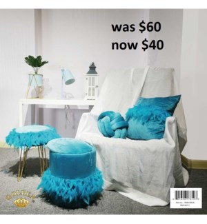 "4PC- DECOR SET INCLUDES : (14"" STORAGE STOOL,16""THROW PILLOW, 16"" FOOT STOOL, 9"" ROUND ACCENT PILLO"