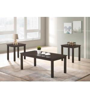 "3-PK COFFEE TABLE SET - 1SET /BOX - (CT 48""X24""X19"" / ET 21""X18""X22"")"