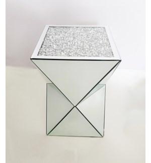 "MODERN MIRROR SIDE TABLE 12""X12""X 20"" - 1/BX"