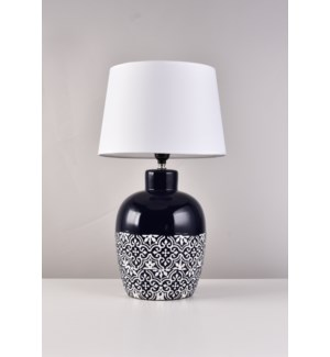 "20""  NAVY BLUE -  LAMP WITH SHADE  -  4/BOX"
