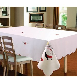 """EMBROIDERED CHEF TABLECLOTH - 70"""" R - 12/BOX"""